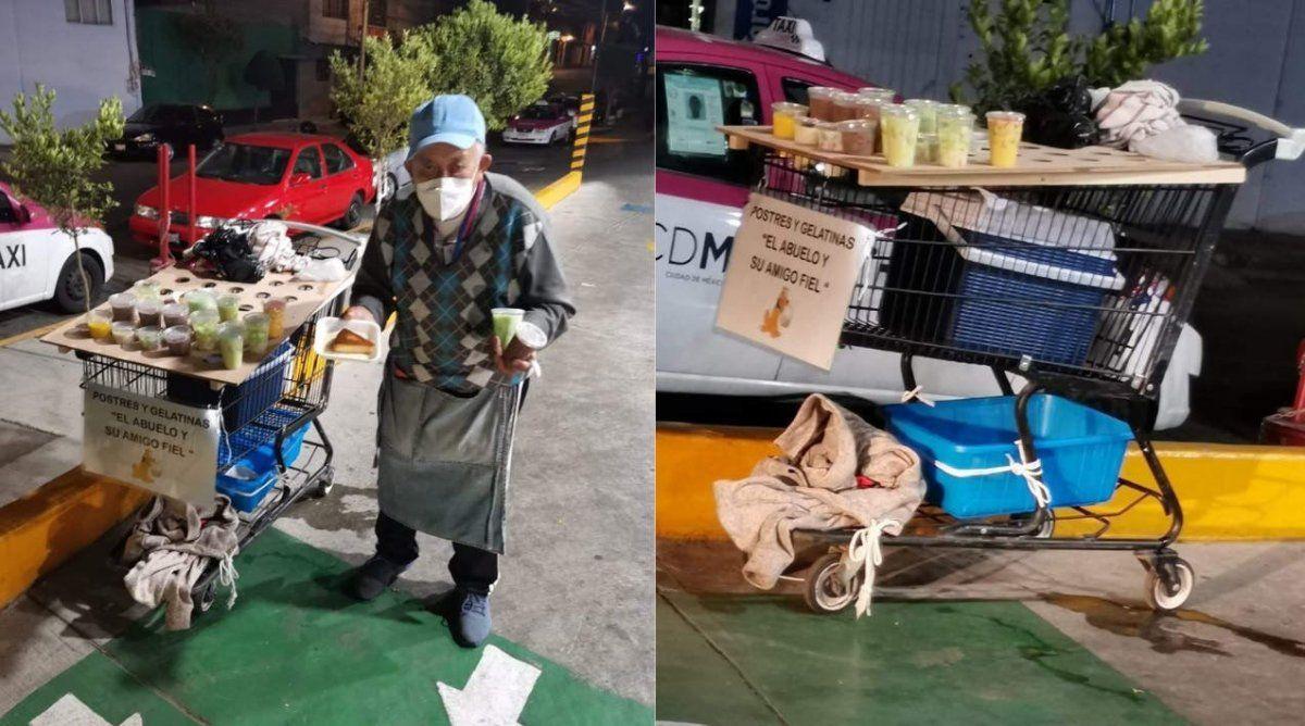 Este abuelo hace todo lo posible para pagarle una operación a su nieto.