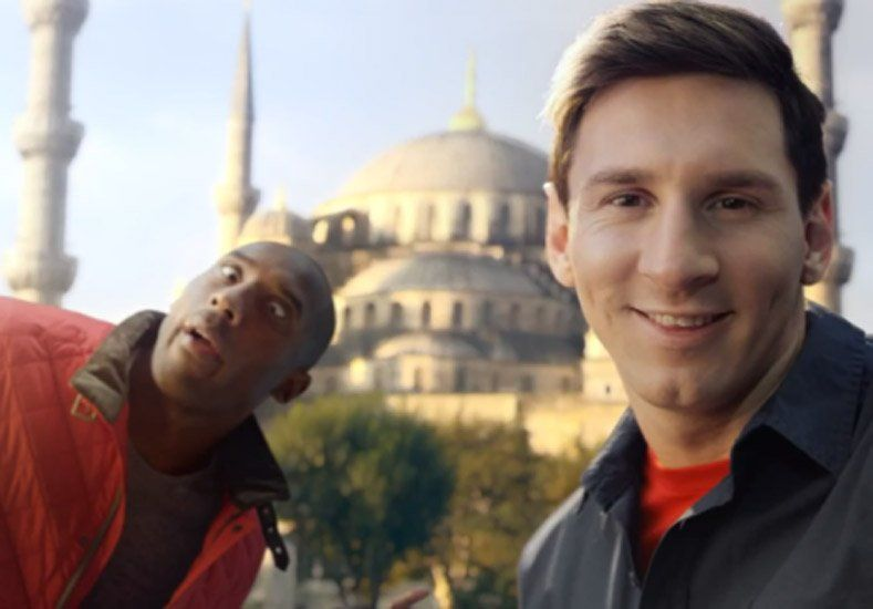 Youtube eligió al comercial de Messi y Kobe como el mejor de la década
