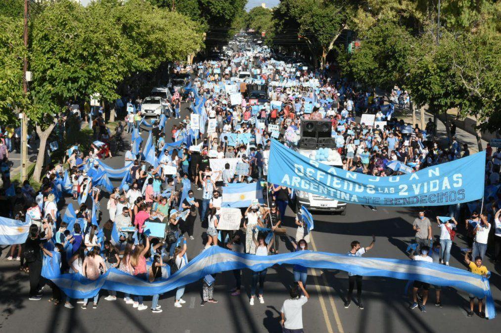 Sanjuaninos se manifestaron en contra del aborto legal
