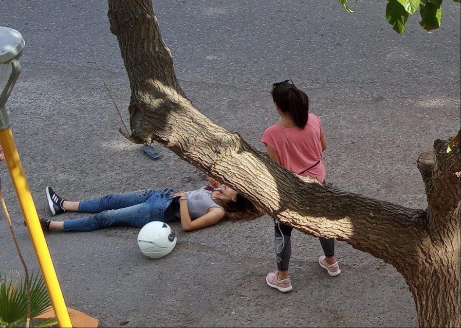 Accidente en Santa Lucía. Un hombre en grave estado.