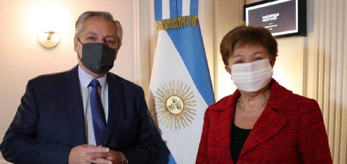 Fernández  habló tras la reunión con Georgieva: La vocación es encontrar un acuerdo lo más rápido posible